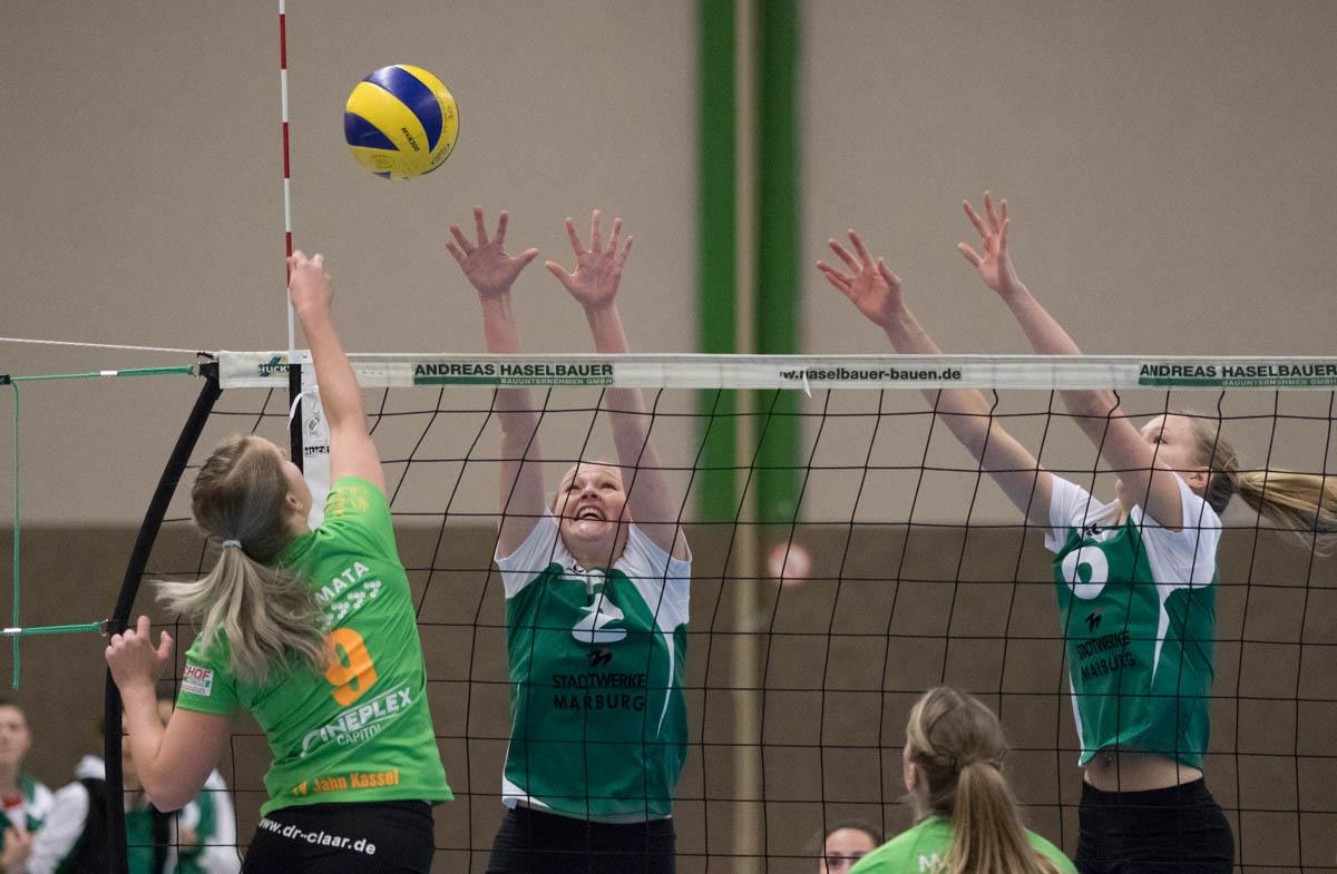 Jelda Efken (Wetter, re) gegen Silvia Derfin (Kassel)