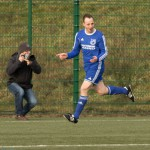 Felix Baum (Breidenbach) nach seinem 1:0(Foto: Michael Hahn)